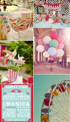 vintage carnival centerpiece | ... -vintage-fiesta-en-el-parque-de-atracciones_vintage-party-at-the-fair
