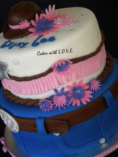 Cowgirl theme by Cakes with L.O.V.E., via Flickr  OKAy, looks complicated, but have a good friend, Up for it?