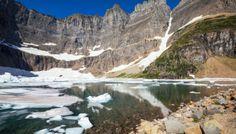 Iceberg Lake in Glacier National Park #ad