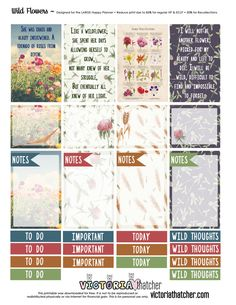 Wild Flowers Planner Printable - Victoria Thatcher