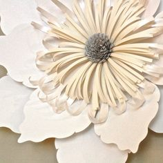 Paper Flower Frilled Edge Dahlia 22 by TheBleuDahlia on Etsy, $38.00