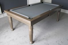 Modern Pool Table with Oak P2 wood finish www.Luxury-Pool-Tables.co.uk