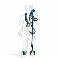 Modified version of the Frog climbing system (modified by the Pantin or foot ascender on the right foot) - Tree Frog SRT Climbing System by SherrillTree | SherrillTree.com