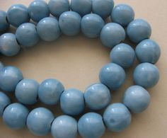Auction is LIVE Now!!.. Light Blue Porcelain Rounds 10mm. Starting at $5 on Tophatter.com!