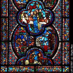chartres cathedral stained glass | ... Dame Cathedral in Chartres, Chartres Cathedral, Stained glass window