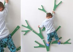 Olivia so needs this in her room! Ha!  Maybe it will get the climbing bug out of her!