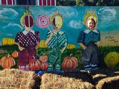 the lolipop guild #standin #photoop #amandahart #wizardofoz #painting  #mural