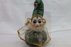 Clown w/Porcelain Head & Painted Face Lot Clowns, 18th, Porcelain, Christmas Ornaments, Holiday Decor, Amp, Ebay, Porcelain Ceramics, Christmas Jewelry