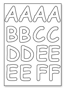 click to download a to f alphabet stencils alphabet fonts cut out letters