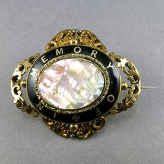 Victorian Antique Gold Filled Brooch Mourning Jewelry With Back Enamel Victorian Jewelry Antique Jewelry Antiuqes Collectibles Victorian Jewelry, Antique Jewelry, Mourning Jewelry, Hair Creations, Gold Brooches, Memento Mori, Black Enamel, Antique Gold, Bracelet Watch
