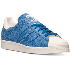 adidas Women's Superstar '80s Casual Sneakers from Finish Line ($90) ❤ liked on Polyvore featuring shoes, sneakers, retro sneakers, patterned shoes, 1980s shoes, 80s shoes and 80s fashion