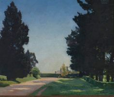 The pines, by Elioth Gruner :: The Collection :: Art Gallery NSW Australian Painting, Australian Art, Black Oil, Artist Profile, Art School, Art Museum, Landscape Paintings, Oil On Canvas, Art Gallery