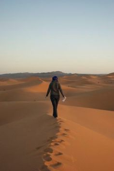 Michelle in the Sahara. A month in Morocco? Yes please