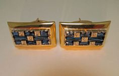 Lucien Piccard 14k Cufflinks 1960s Precious Stones by TaxcoandMore, $1395.00