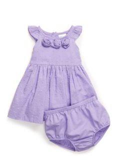 Nursery Rhyme Purple 2-Piece Swiss Dot Dress Set