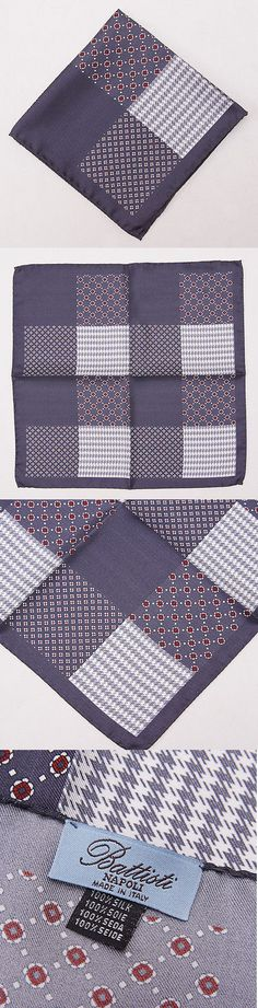New BATTISTI NAPOLI Multi-Color with Paisley Pattern Silk Pocket Square $155