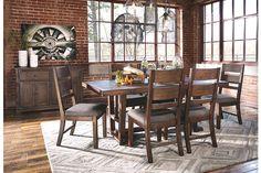 Medium Brown Zenfield Dining Room Server View 3