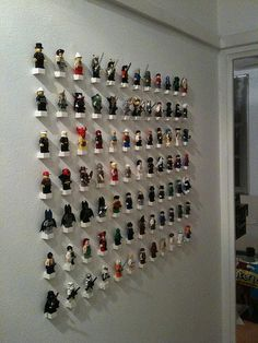 lego wall! Lol I think a smaller version of this with maybe something other than Legos...maybe little cars? Would look cute in Jett's room