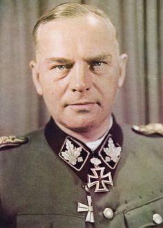 SS-Obergruppenführer Felix Steiner (as SS-Gruppenführer in pic) --- Kommandierender General III.(Germ.)SS-Panzerkorps.- http://www.das-ritterkreuz.de/index_search_db.php4?modul=search_result_det&wert1=6273&searchword=steiner