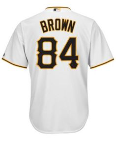 d34a68039 Majestic Men s Antonio Brown Pittsburgh Pirates Nflpa Replica Cool Base  Jersey - White XXL Antonio Brown