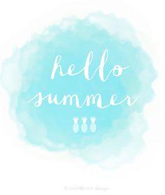 "Free ""Hello Summer"" Printable"