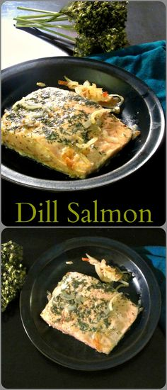 Super Simple Dill Salmon cooks in 15 - 20 minutes. A terrific weekday dinner!