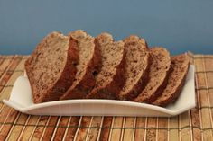 Here's another shot of my sugar free banana bread! All sliced up and ready to puzzle!