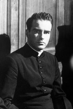 """Montgomery Clift in """"I Confess"""" (1953). COUNTRY: United States. DIRECTOR: Alfred Hitchcock."""
