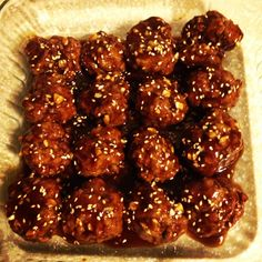 Saucy Asian Meatballs...leftovers were great over spaghetti with a little parsley & parmesan too