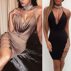 5a5347782d9ba2 Women s Sleeveless Bandage Bodycon Evening Party Cocktail Club Short Mini  Dress