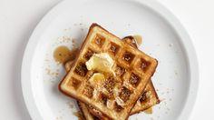 Toasted Coconut Waffles Recipe   Bon Appetit
