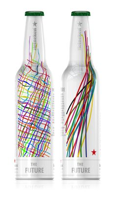 These are the top three design concepts for the 140th Anniversary Heineken® bottle. Rodolfo Kusulas of Monterrey, Mexico and Lee Dunford of Sydney, Australia designed each half of the winning bottle: Continents forming the Heineken® star.