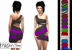 NY Girl Sims: Diagonal Dress Conversion • Sims 4 Downloads