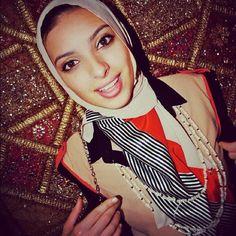 Noor tagouri sporting a nautical Vela design by Marwa Atik