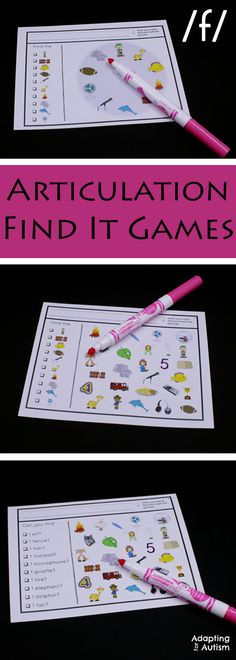Articulation games for an easy no prep activity to add fun to your speech therapy.  Practice producing the /f/ sound in all three positions with three levels of difficulty.  Can also be used as a work task in your special education classroom!