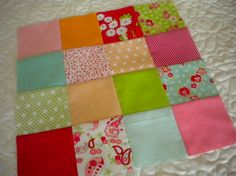 piecing together strips