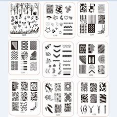 2014 NEW CZ Series Stamp nail art Stamping Image Plate Print Nail Art  Template DIY  Good quality plates. Saw swatches in my nail stamping fb group :)