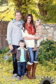 Family Photo colors, Fall colors.
