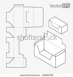 Box Template Fotografie Snímky A Obrázky Shutterstock Cardboard Paper Furniture