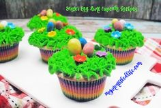 Southern Mom Loves: Day 3: Easter Egg Hunt Cupcakes {#12DaysOf Easter}