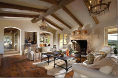 love the ceiling! La Bastide in Shady Canyon, California.