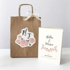 Wedding Bag + Libretto Messa  Rustic Chic Wedding Stationery  www.laughlau.com/wedding