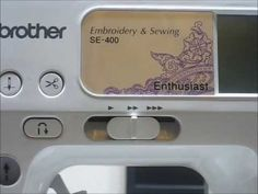 How To Import an Embroidery File to the Brother SE 400 Sewing Machine - YouTube