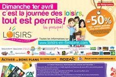 Journée des loisirs à la Récré des 3 Curés le 1er avril 2012 à moitié prix !