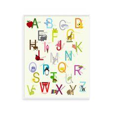 Alphabet 16' x 20' Wall Art - Bed Bath & Beyond