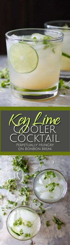 Add a burst of flavor to your life with a Key Lime Cooler Cocktail, a refreshing drink with a great tart flavor. Cocktail Break,cocktail recipe,#Drinks