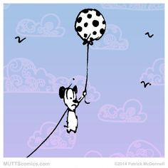 """The answer, my friend, is blowin' in the wind"""" #BobDylan #RideTheWindDay #MUTTScomics"""