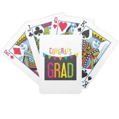 Congrats Grad Bicycle Playing Cards