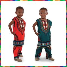 💥 Sleeveless dashikis for kids!💥 Call/text for more info! #kidsfashion #cute  www.Facebook.com/2CuteAfricanStore
