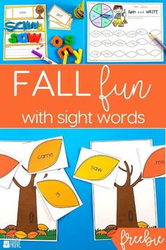 Sight word activitie
